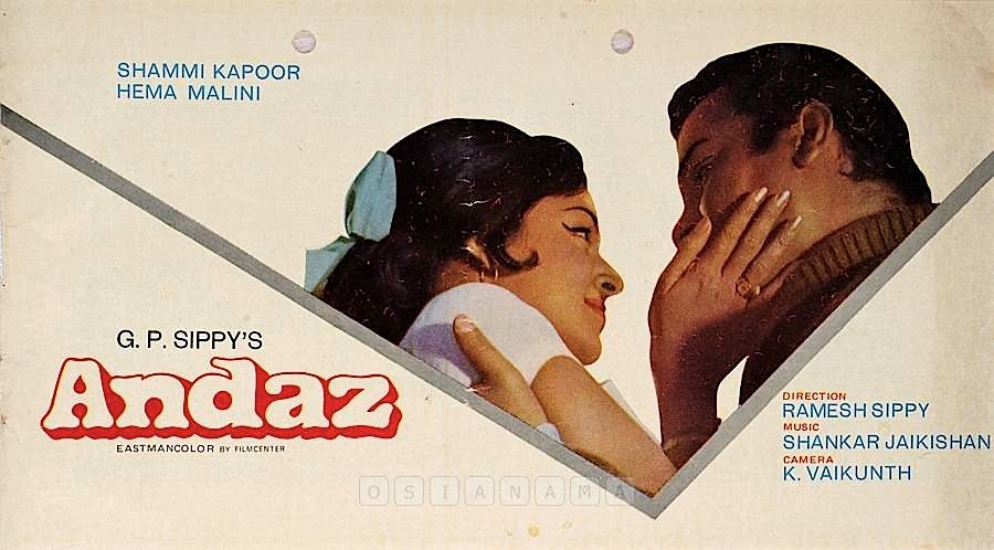 Image result for andaz 1971 poster