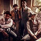 Anslem Richardson, Malcolm Barrett, Kamahl Naiqui, and Paterson Joseph on the set of Timeless and The King of the Delta Blues