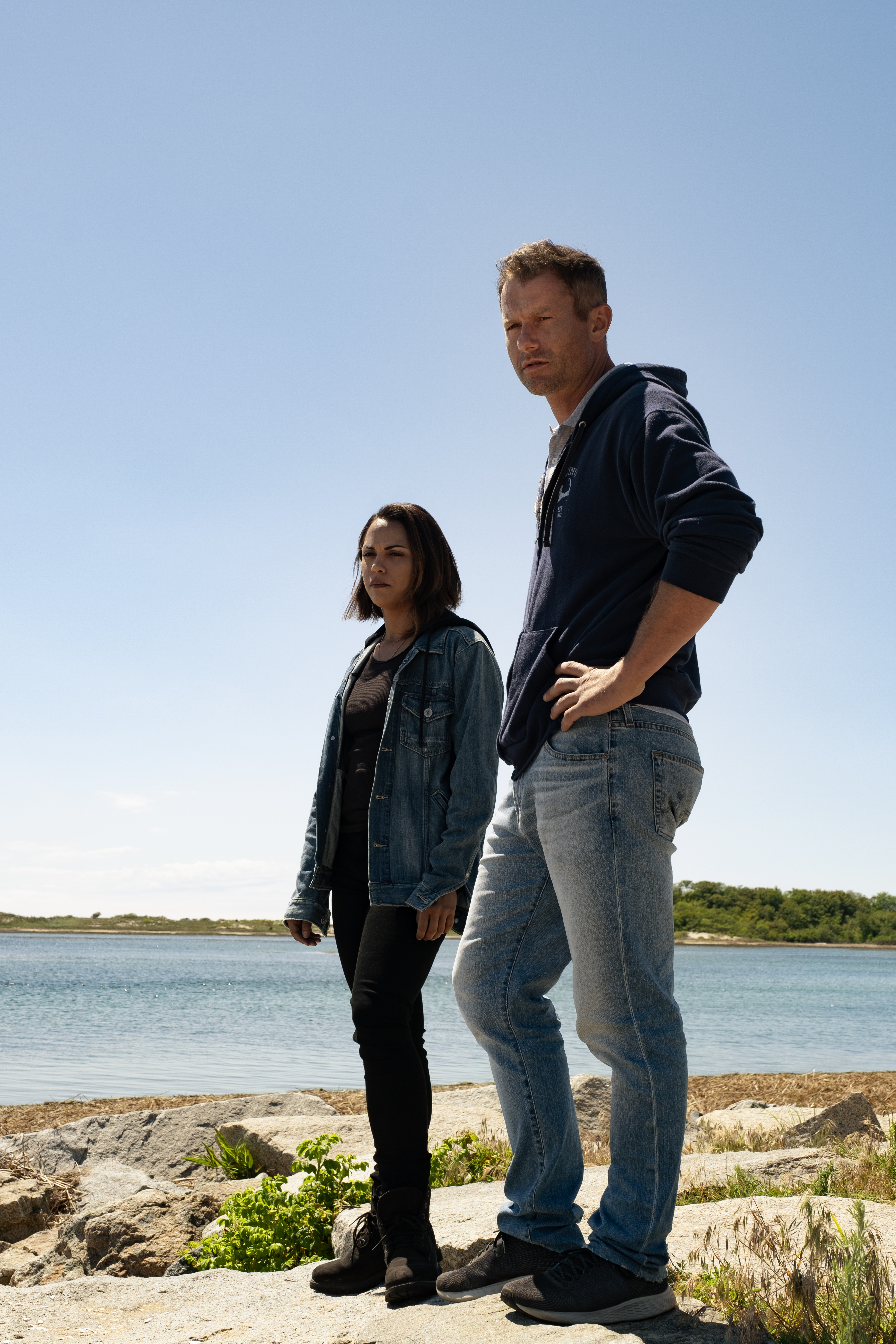 James Badge Dale and Monica Raymund in Everybody's Got a Cousin in Miami (2020)