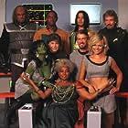 Walter Koenig, Alan Ruck, Chase Masterson, Gary Graham, J.G. Hertzler, Nichelle Nichols, Tim Russ, Garrett Wang, and Crystal Allen in Star Trek: Of Gods and Men (2007)