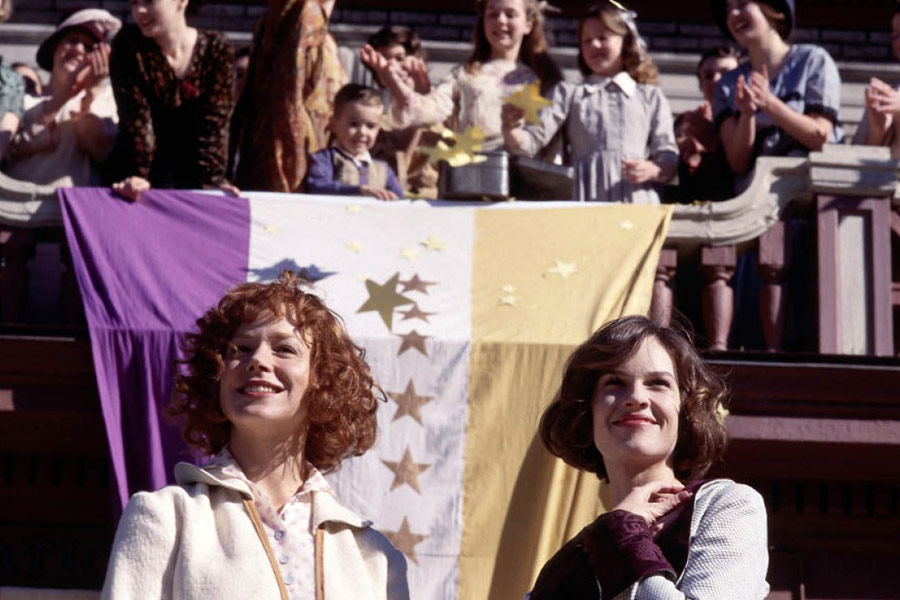 Hilary Swank and Frances O'Connor in Iron Jawed Angels (2004)