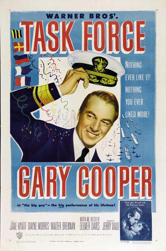 Gary Cooper and Jane Wyatt in Task Force (1949)