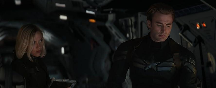 Chris Evan alias Captain America avec Scarlett Johansson alias La Veuve noire
