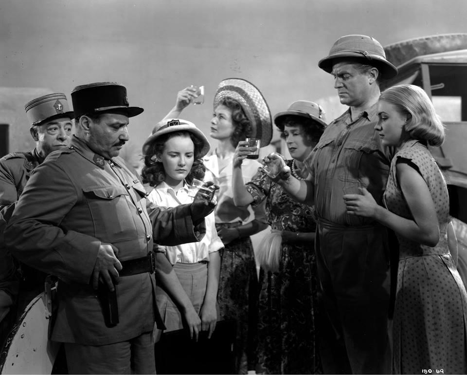 Petula Clark, Kathleen Harrison, Susan Shaw, Dinah Sheridan, and Jack Warner in The Huggetts Abroad (1949)