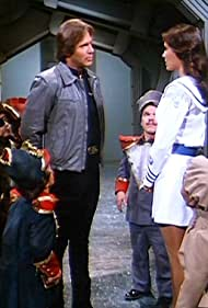Gil Gerard, Erin Gray, Tony Cox, Billy Curtis, Tommy Madden, Harry Monty, Spencer Russell, and Charles Secor in Buck Rogers in the 25th Century (1979)