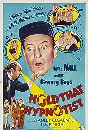 Hold That Hypnotist Poster
