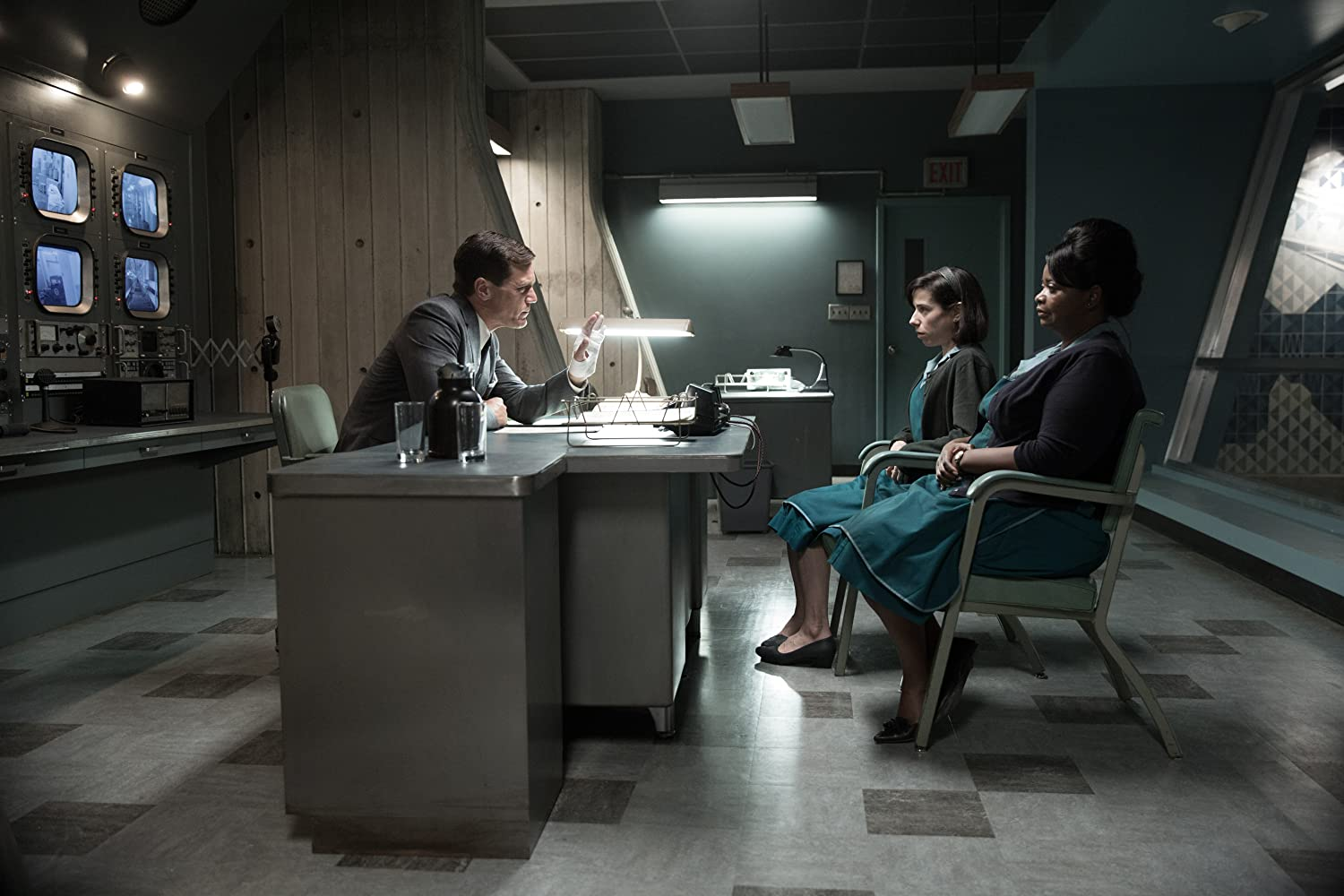 Michael Shannon, Octavia Spencer, and Sally Hawkins in The Shape of Water (2017)