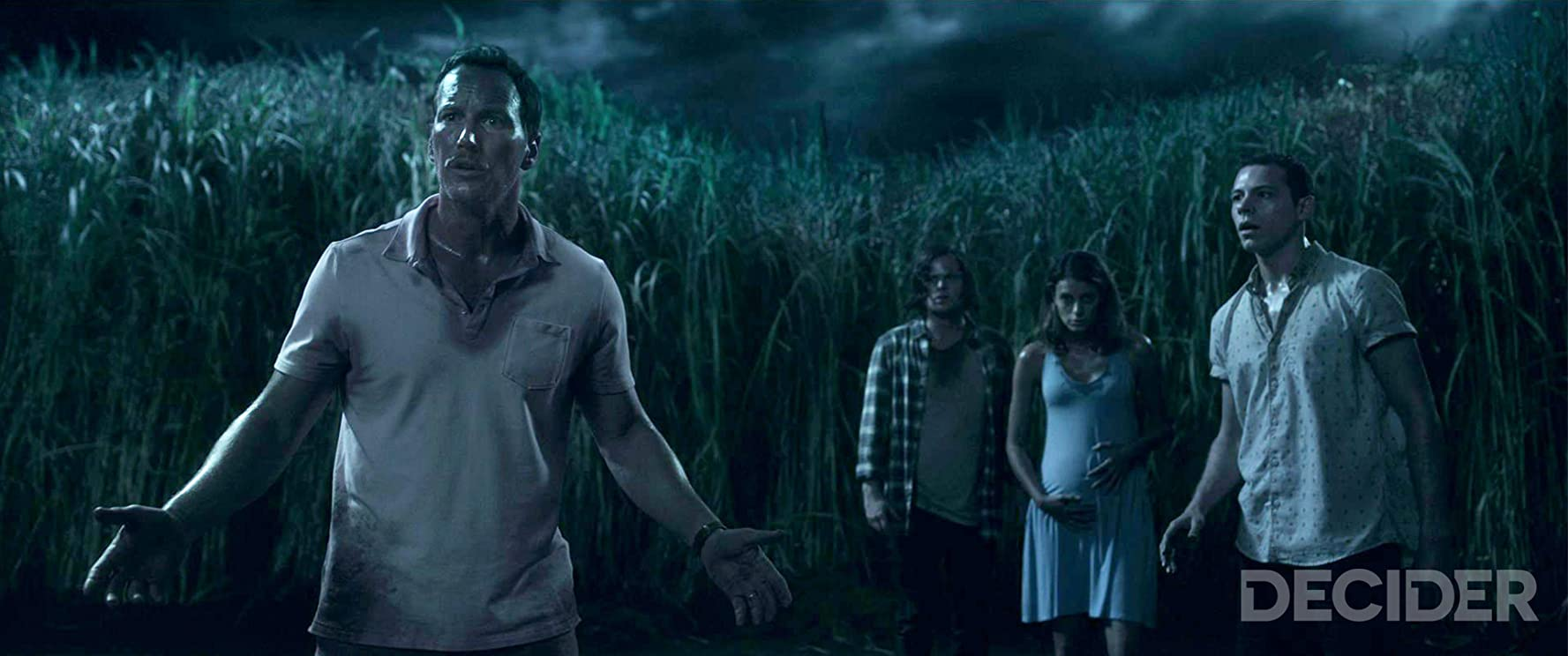Patrick Wilson, Avery Whitted, Harrison Gilbertson, and Laysla De Oliveira in In the Tall Grass (2019)