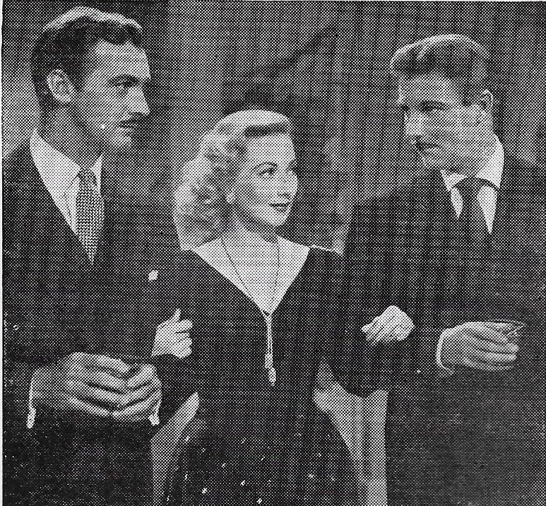 Tom Helmore, Zachary Scott, and Ann Sothern in Shadow on the Wall (1950)