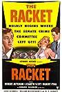 Robert Mitchum, Robert Ryan, and Lizabeth Scott in The Racket (1951)