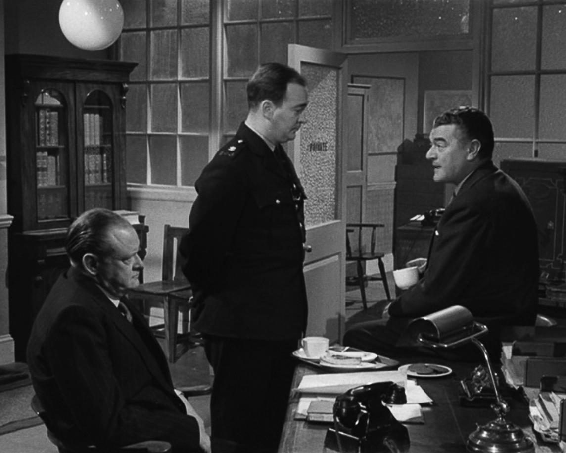 Jack Hawkins, Stratford Johns, and Arthur Rigby in The Long Arm (1956)