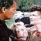 Barbara Hale, Jimmy Hunt, and Joel McCrea in The Lone Hand (1953)