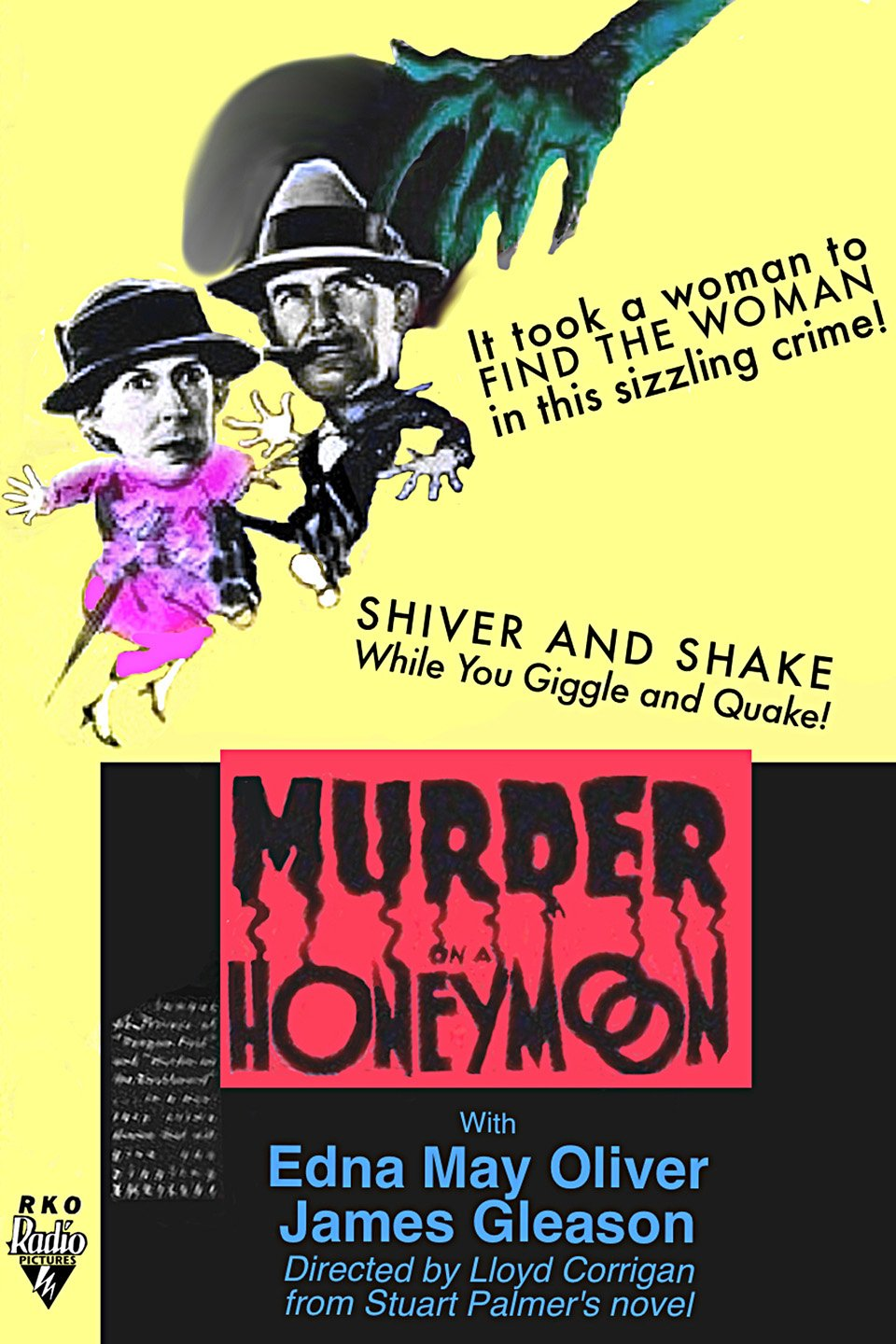 James Gleason and Edna May Oliver in Murder on a Honeymoon (1935)