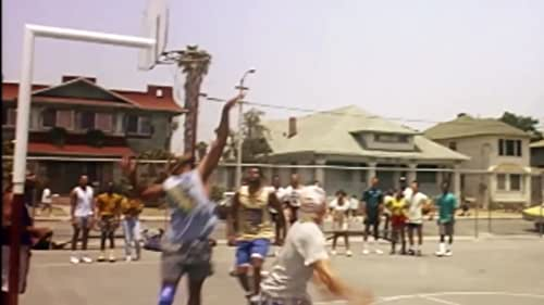 Black and white basketball hustlers join forces to double their chances of winning money on the street courts and in a basketball tournament.