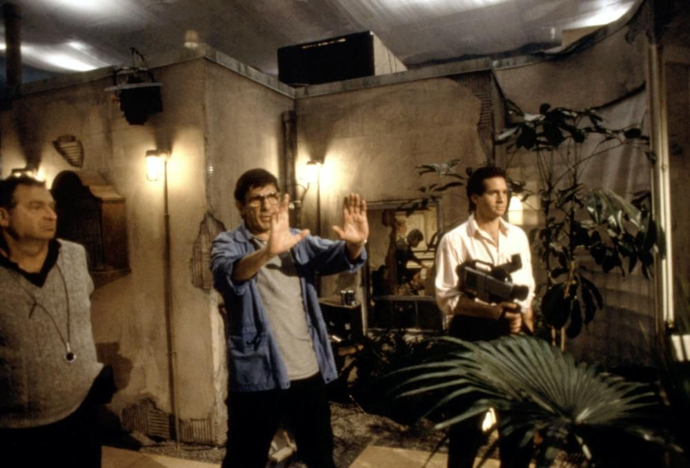 Steve Guttenberg and Leonard Nimoy in 3 Men and a Baby (1987)