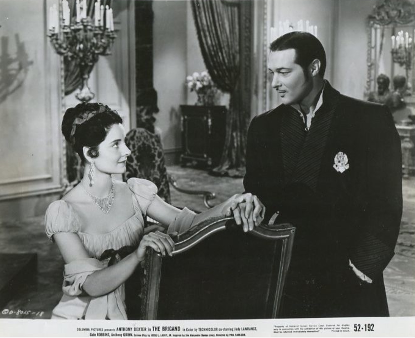 Anthony Dexter and Jody Lawrance in The Brigand (1952)