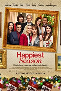 Victor Garber, Mary Steenburgen, Kristen Stewart, Burl Moseley, Alison Brie, Aubrey Plaza, Dan Levy, Mary Holland, and Mackenzie Davis in Happiest Season (2020)