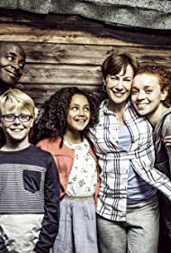 Tanya Franks, Paterson Joseph, Joseph West, India Brown, and Erin Kellyman in The Coopers vs the Rest (2016)