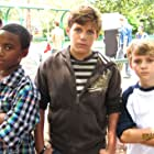 Brock, Tyson & Toby as the bullies on the set of Christmas Angel