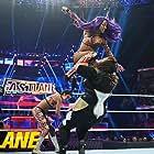Pamela Martinez, Sasha Banks, and Savelina Fanene in WWE Fastlane (2019)