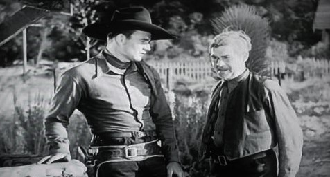 John Wayne and George 'Gabby' Hayes in Riders of Destiny (1933)