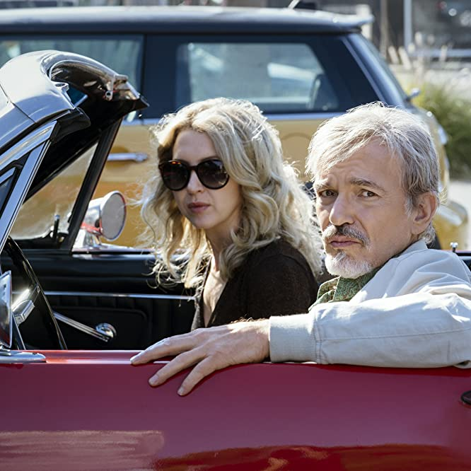 Billy Bob Thornton and Nina Arianda in Goliath (2016)