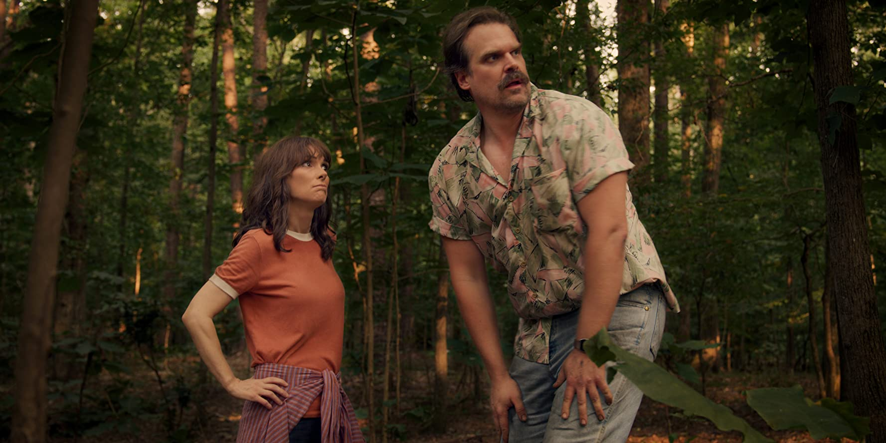 Winona Ryder and David Harbour in Stranger Things (2016)