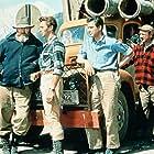 Dirk Bogarde, Michael Craig, Sidney James, James Robertson Justice, Barbara Murray, and Gordon Tanner in Campbell's Kingdom (1957)