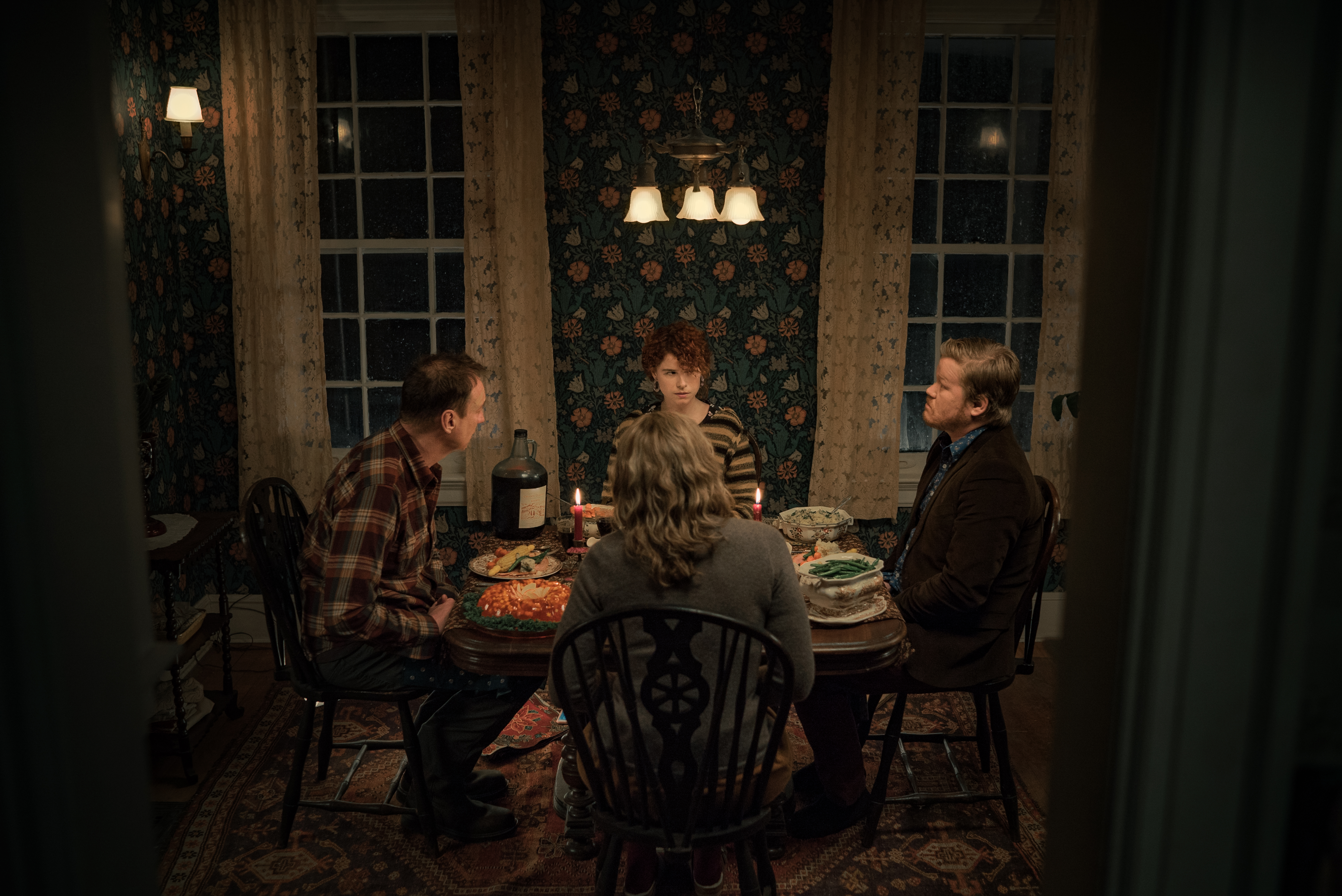 David Thewlis, Toni Collette, Jesse Plemons, and Jessie Buckley in I'm Thinking of Ending Things (2020)
