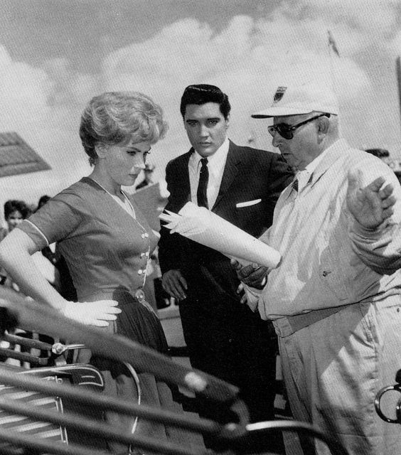 Elvis Presley, Joan O'Brien, and Norman Taurog in It Happened at the World's Fair (1963)