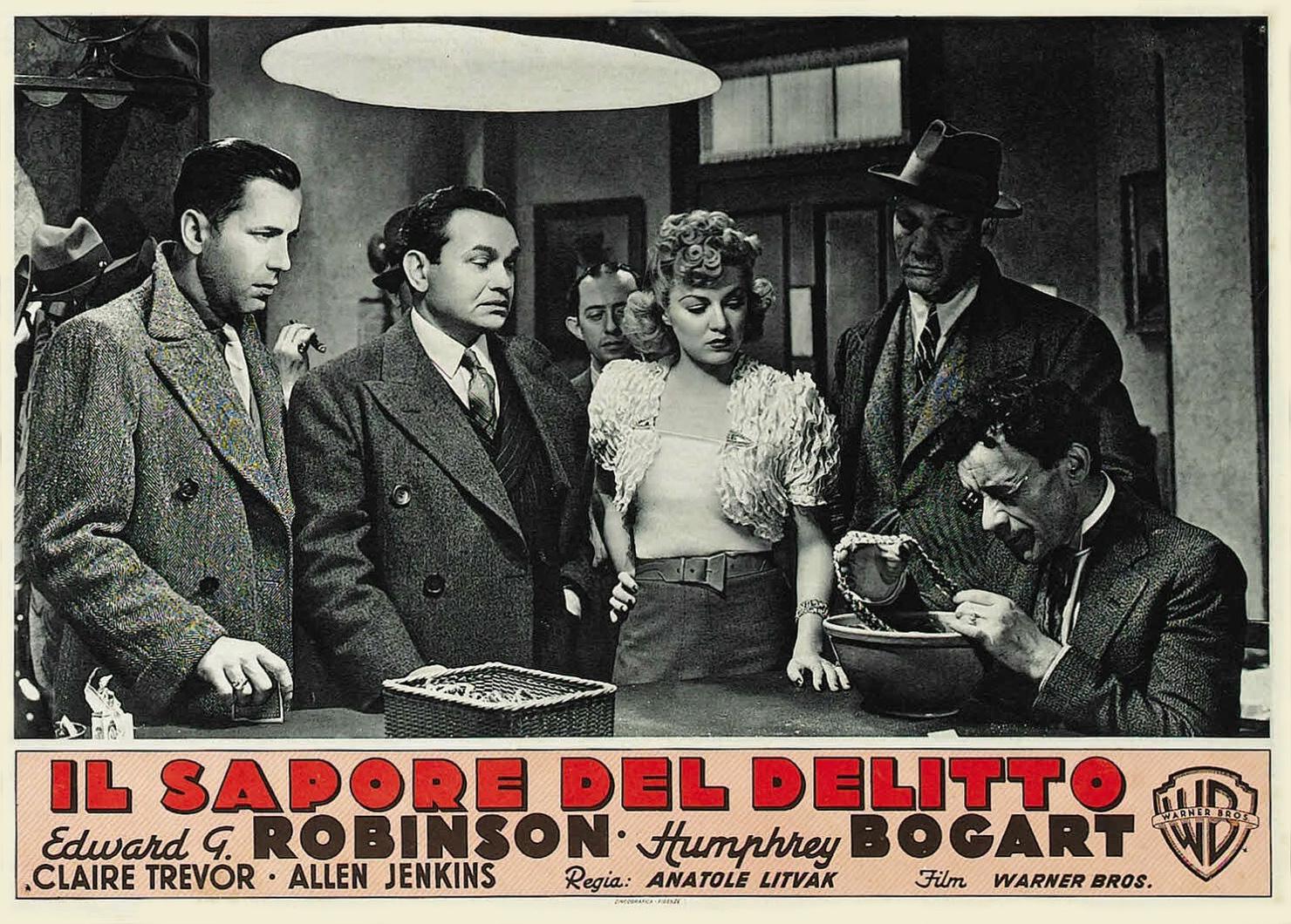 Humphrey Bogart, Edward G. Robinson, Thurston Hall, Allen Jenkins, and Claire Trevor in The Amazing Dr. Clitterhouse (1938)
