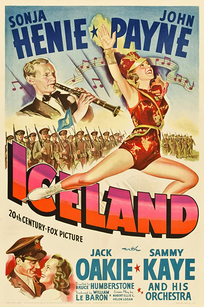 Sonja Henie, Sammy Kaye, and John Payne in Iceland (1942)