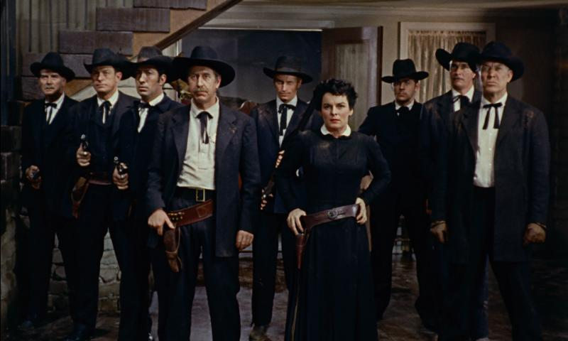 Ward Bond, Frank Ferguson, and Mercedes McCambridge in Johnny Guitar (1954)