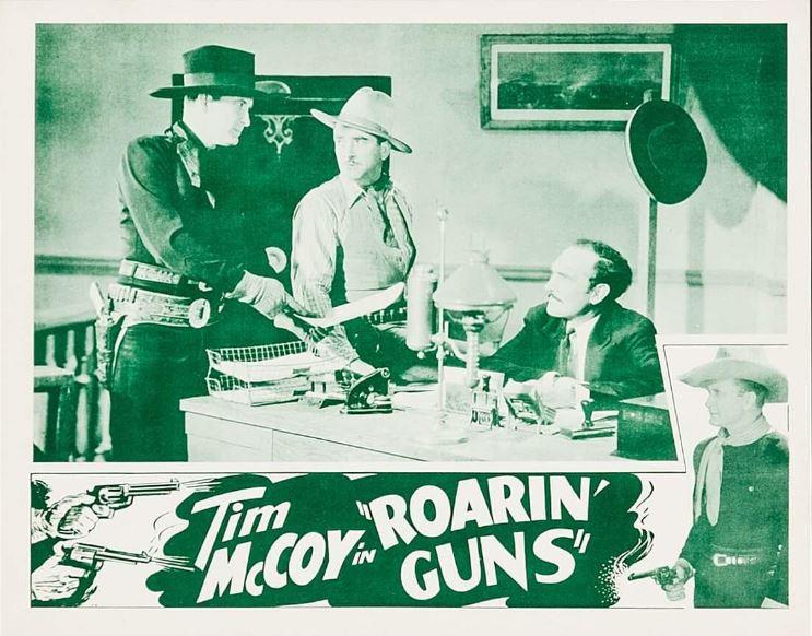 Tim McCoy, Karl Hackett, and Wheeler Oakman in Roarin' Guns (1936)