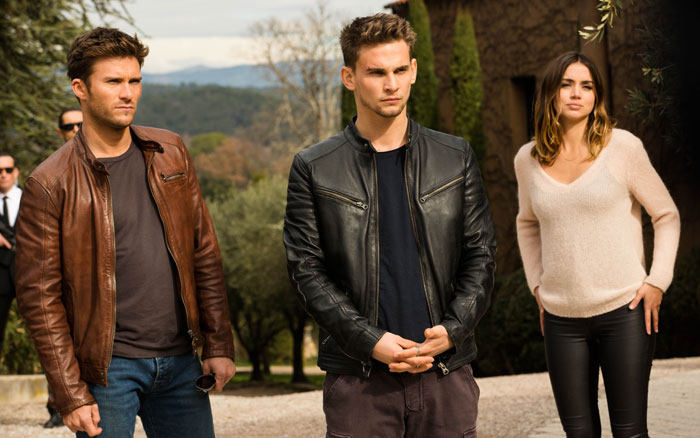 Ana de Armas, Scott Eastwood, and Freddie Thorp in Overdrive (2017)