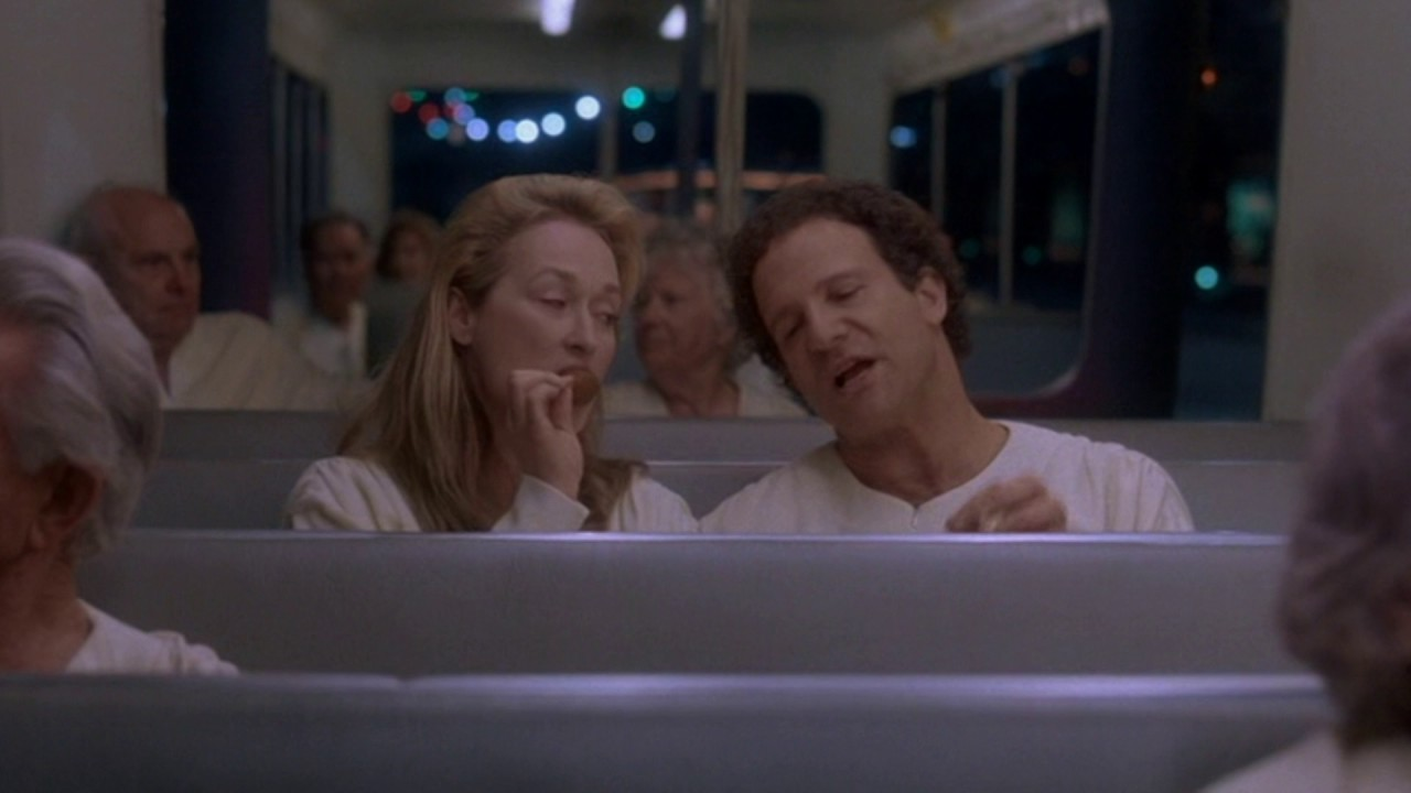 Meryl Streep and Albert Brooks in Defending Your Life (1991)