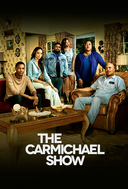 David Alan Grier, Loretta Devine, Amber Stevens West, Tiffany Haddish, Lil Rel Howery, and Jerrod Carmichael in The Carmichael Show (2015)