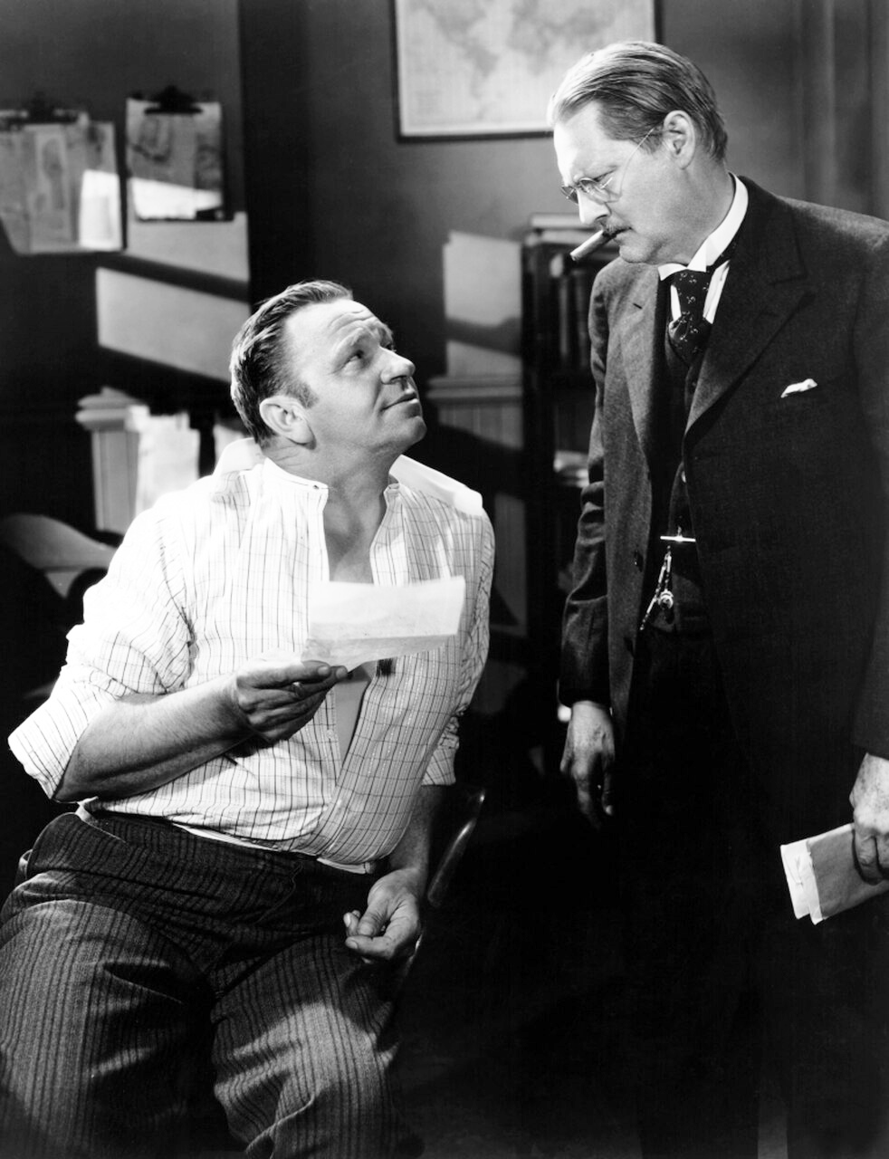 Lionel Barrymore and Wallace Beery in Ah, Wilderness! (1935)