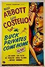 Bud Abbott, Lou Costello, and Joan Shawlee in Buck Privates Come Home (1947)