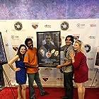Vida Ghaffari, Srinivasa Kapavarapu, Armin Nasseri, and Kristin West at an event for Seeking Valentina (2015)