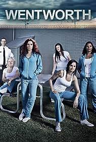 Danielle Cormack, Celia Ireland, Aaron Jeffery, Katrina Milosevic, Nicole da Silva, and Shareena Clanton in Wentworth (2013)