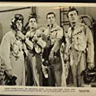 John Derek, Kevin McCarthy, Pat Conway, and Alvy Moore in An Annapolis Story (1955)