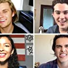 """Madison Reyes, Jeremy Shada, Charlie Gillespie, and Owen Joyner in The """"Julie and the Phantoms"""" Cast Plays Who's Who (2020)"""