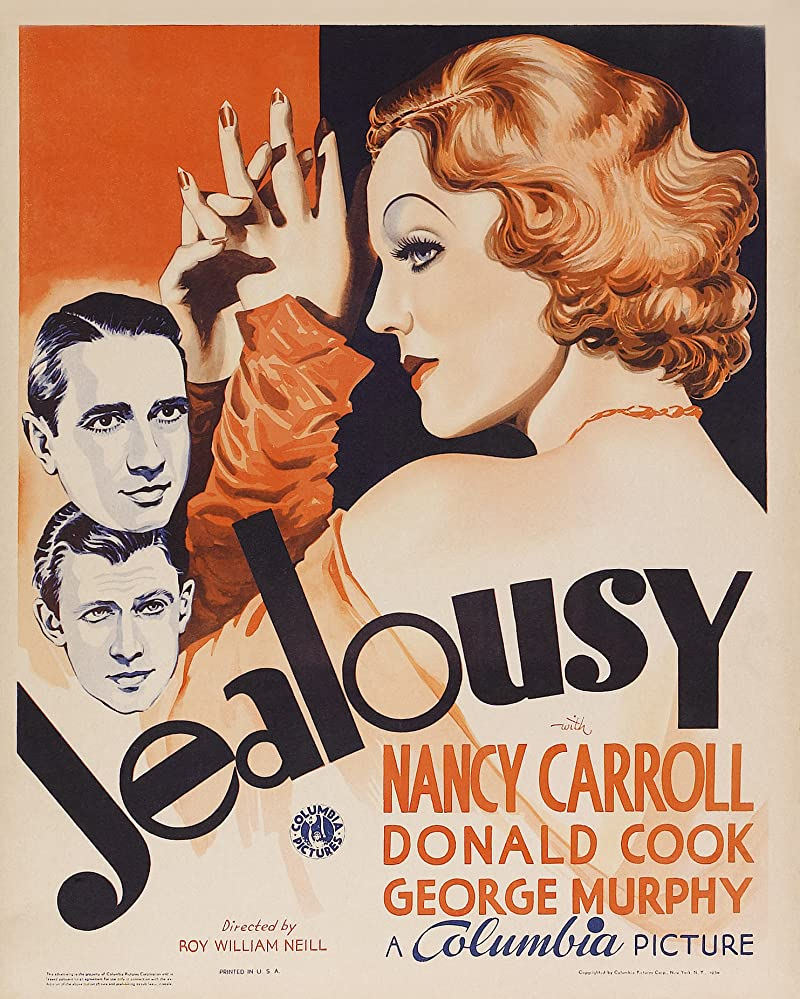 Nancy Carroll, Donald Cook, and George Murphy in Jealousy (1934)