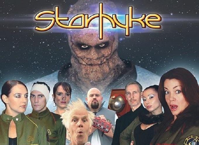 Suanne Braun, Jeremy Bulloch, Claudia Christian, Brad Gorton, Rachel Grant, Wayne Pilbeam, Stephanie Jory, and Simon Gilvear in Starhyke (2009)