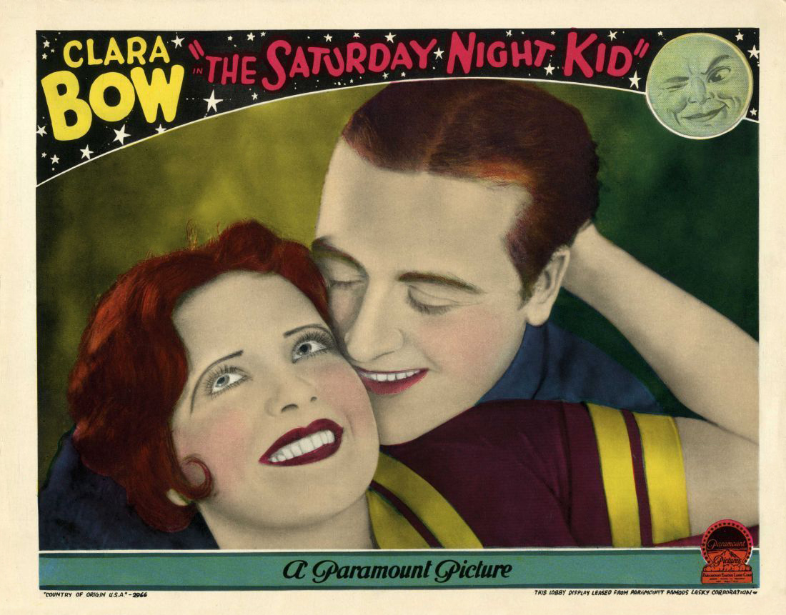 Clara Bow and James Hall in The Saturday Night Kid (1929)