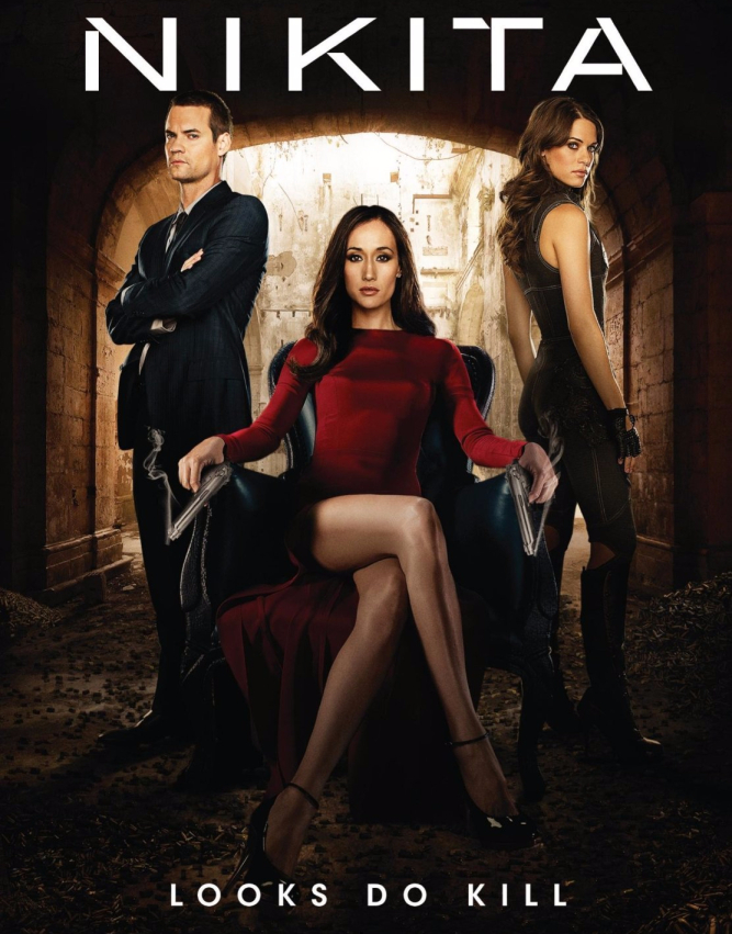 Maggie Q, Shane West, and Lyndsy Fonseca in Nikita (2010)
