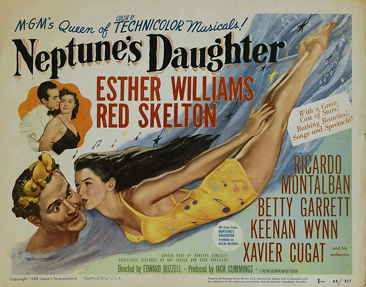 Ricardo Montalban, Red Skelton, and Esther Williams in Neptune's Daughter (1949)
