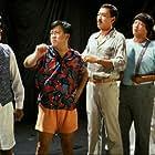 Sammo Kam-Bo Hung, Stanley Sui-Fan Fung, Kiu Wai Miu, Richard Ng, and Eric Tsang in Xia ri fu xing (1985)