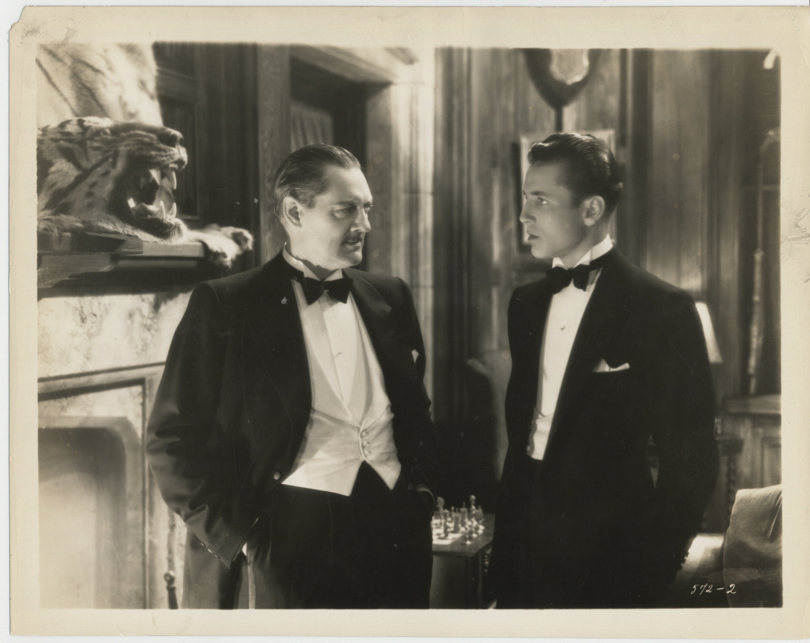 Lionel Barrymore and William Bakewell in Guilty Hands (1931)